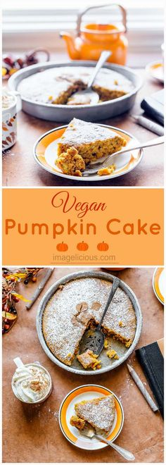 Pumpkin | Pumpkin cake | pumpkin dessert | pumpkin baking | pumpkin recipes | vegan | vegan recipe | vegan baking | vegan cake | vegan pumpkin cake | fall dessert | autumn dessert | fall baking | autumn baking | Imagelicious
