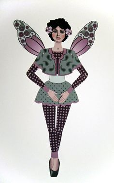 Doc's Paisley Fairy (Jointed Paper Doll)