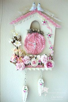 diy shabby chic crafty studio cuckoo clock