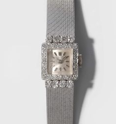 IWC Diamant-Damenarmbanduhr 1960er Jahre. 750 Weissgold. Gehäuse Nr. 1640025. Handaufzug, Cal. 431 — Schmuck