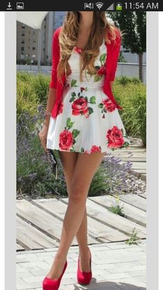 Ideas About Floral Print Dresses - Stil Mode - Summer Dress Outfits Fashion Wear, Look Fashion, Womens Fashion, Fashion 2014, Fasion, Dress Fashion, Teen Fashion, Fashion Outfits, Fashion Games
