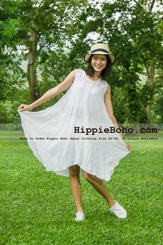 - Size White Hippie Boho Bohemian Gypsy Swing Tunic Plus Size Dress Clothing Summer Sundress Plus Size Dress Outfits, Dress Clothes For Women, Gauze Clothing, Sundress Outfit, Bohemian Style Clothing, Gauze Dress, Affordable Clothes, Boho Outfits, Punk Jewelry
