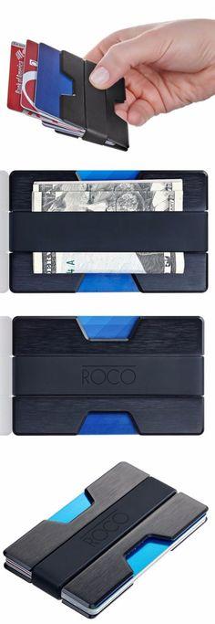Kartenetui RFID Geldbörse Aluminium TONY PEROTTI Italy Leather Cardprotector NEU