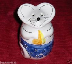 Vtg Mouse Figurine Cheese Shaker Ceramic Parmesan Romano Grated Cheese Holder FA on eBay!