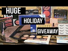 BIGGEST MAKEUP & BEAUTY GIVEAWAY EVER!! NIKKIA JOY HOLIDAY GIVEAWAY 2015 - - YouTube