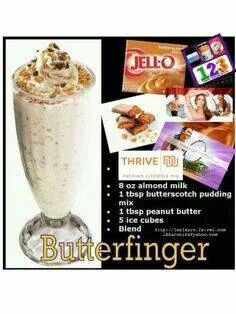 Butterfinger Thrive Shake  Don't have the Thrive shake mix don't why you can get it by visiting www.shanita.le-vel.com to order.