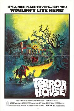 "Terror House (1972) aka ""Terror at Red Wolf Inn"" Stars: Linda Gillen, John Neilson, Arthur Space, Mary Jackson,. Janet Wood, Margaret Avery ~  Director: Bud Townsend (Nominated for a  Golden Scroll Award for Best Horror Film by the Academy of Science Fiction, Fantasy  Horror Films, USA 1975)"