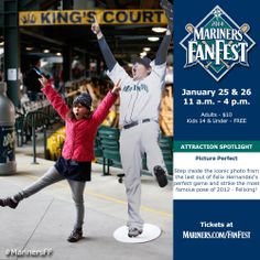 Strike a pose at Picture Perfect. #MarinersFF