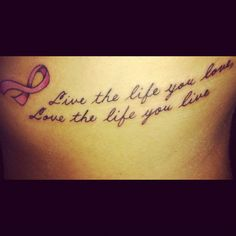 New breast cancer ribbon tattoo <3