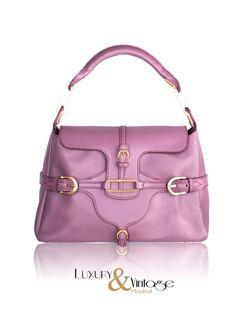 Jimmy Choo Purple Leather Tulita Tote Bag Handbag