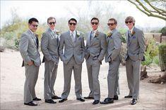 Light Grey Groomsmen Suits 4
