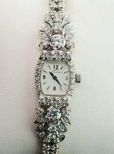 Vintage Lady Hamilton Diamond Watch by SITFineJewelry on Etsy, $6500.00