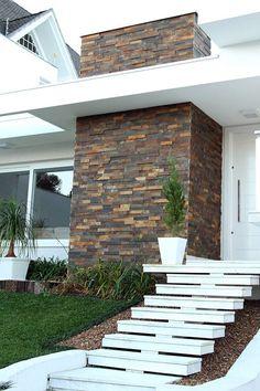 Diseños de revestimiento para paredes interiores y exteriores | Decoracion de interiores Fachadas para casas como Organizar la casa
