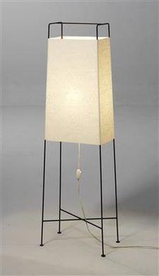 Carl Auböck; #4486 Patinated Iron 'Box' Floor Lamp for Werkstätte Carl Auböck, c1960.,