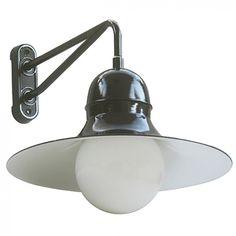 Industrie-Wandleuchte Siegen W340 mit Kugelglas von Bolich Leuchten