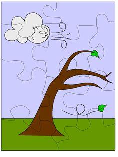 * Puzzel: Wind.... Letter Worksheets For Preschool, Printable Activities For Kids, Kindergarten Math Worksheets, Preschool Letters, Free Printable Worksheets, Free Preschool, Learning Letters, Toddler Activities, Seasons Activities