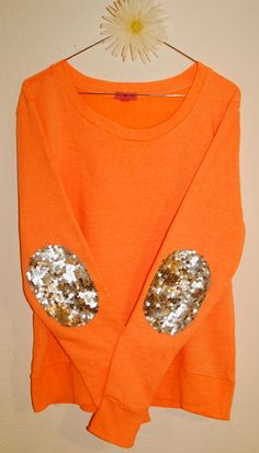 The Dazzle Patch Sweatshirt w/Sequin Elbow Patch by ICaughtTheSun