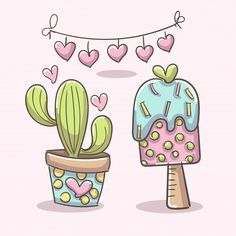 Cartoon Styles, Cute Cartoon, Cactus Vector, Plant Vector, Tribal Animals, Cactus Illustration, Cactus Gifts, Cute Alpaca, Kawaii Faces