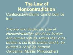The Real Issue Apologetics Ministry: What is the Law of Non Contradiction?