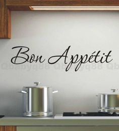 Wall Art For Kitchen french wall decal - eifel tower bon appetite paris kitchen and