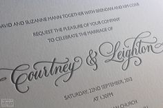An elegant and simple invitation style to compliment a deeper and more complex wedding colour scheme.