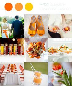 Decoração do Casamento: Amarelo, Laranja e Branco | Solteiras Noivas Casadas