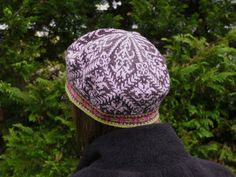 Amaryllis hat by Mary Ann Stephens, knit in Dale of Norway Baby Ull yarn.  Kits available through the designer, in your choice of colors, through Kidsknits.com.