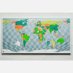 Paper Map 47x26 Orange now featured on Fab.