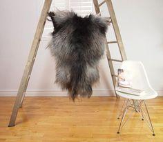 GRAY XL Icelandic Sheepskin Rug / Throw / by blacksheepwhitelight, $239.00