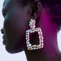 Femmes Mode élégante Boucles D/'oreilles Clous d/'oreille cristal strass or Big roundflower