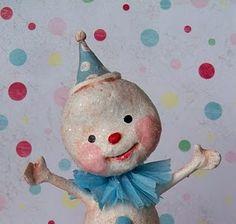 mache snowman...He's soo happy!!