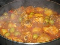 Cuban Home Cooking...Keeping the Tradition Alive: Fricasé de Pollo de Miriam (Chicken Fricassee)