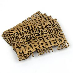 Solid Wood FreeCut Wedding Save the Date Sample by TheCraftySmiths