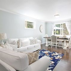 Sherwin williams sea salt paint color schemes for living room walls. Paint Color Schemes, Living Room Color Schemes, Room Paint Colors, Paint Colors For Living Room, Living Room Decor Purple, Living Room White, New Living Room, Living Room Modern, Living Room In Minecraft