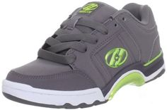 Heelys Chrome Skate Shoe (Little Kid/Big Kid) Heelys. $69.99. Made in China. synthetic. Low-profile wheel with bearings. Non-marking outsole. Special edition model features anodized nylon grind plate. Rubber sole