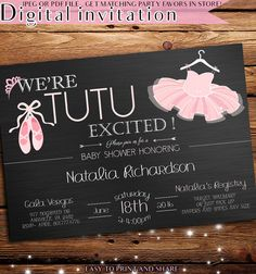 baby shower invitation tutu baby shower by