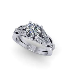 engagement ring  with beautiful fine quality moissanite center stone handcrafted by  fabiandiamonds