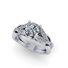 engagement ring moissanite engagement ring by fabiandiamonds