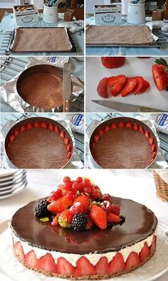 How do I make a Fraisier cake? Step by step. Very easy and super delicious. *** How to Make Fraisier Cake How do I make a Fraisier cake? Step by step. Very easy and super delicious. *** How to Make Fraisier Cake Just Desserts, Delicious Desserts, Yummy Food, Sweet Recipes, Cake Recipes, Dessert Recipes, Let Them Eat Cake, Love Food, Cupcake Cakes