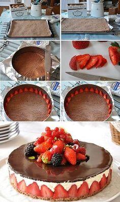 bolo de morango delicioso