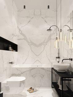 - Carrara Tile Bathroom Feature Bathroom Renovations Perth Carrara Marble Bathrooms Stunning Shower B - Modern Marble Bathroom, Carrara Marble Bathroom, White Bathroom Tiles, Modern Master Bathroom, Bathroom Floor Tiles, Modern Bathroom Design, Bathroom Interior Design, Master Baths, Bathroom Designs