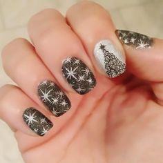 nail art-love the stars! ****