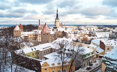 Exploring the Old Town of Tallinn, Estonia, in winter, when its medieval houses and Gothic churches are given a magical touch by a covering of snow.
