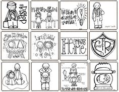 Melonheadz LDS illustrating: clip art Coloring pages for conference Fhe Lessons, Primary Lessons, Primary Activities, Church Activities, Lds Clipart, Lds Coloring Pages, Primary Singing Time, Lds Church, Church Ideas