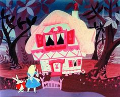 Alice in Wonderland-Mary Blair concept art. Mary Blair worked with Walt-Disney. Walt Disney, Deco Disney, Disney Love, Mary Blair, Alicia Wonderland, Alice In Wonderland 1951, Wonderland Party, Disney Animation, Animation Film