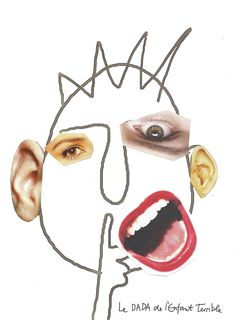 creative art Picasso Faces, line art + collage, good for younger amp; the pass it around game Diy Collage, Art Du Collage, Collage Ideas, Face Collage, Paper Collages, Kunst Picasso, Art Picasso, Picasso Collage, Pablo Picasso