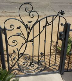 Great for a truly unique piece of functional art for your hom… Custom Iron works! Great for a truly unique piece of functional art for your home! Wrought Iron Decor, Wrought Iron Fences, Garden Gates And Fencing, Gates And Railings, Iron Gate Design, Metal Gates, Iron Art, Iron Doors, Metal Art