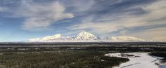 USA - Park Narodowy Wrangla-Świętego Eliasza, (panorama gór Wrangla-św. Eliasza)