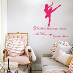 Wall Decal Quote Let them Praise his Name with by DecalStoreVienna