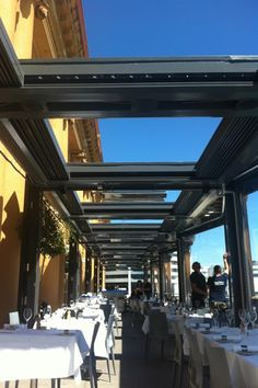Get your hands on NZ's first retractable roof louvers! Johnson&Couzins launch a brand-new Kiwi-designed sliding roof system, the Concertina Louvres. Roofing Systems, Courtyards, Outdoor Spaces, Louvre, Deck, Coffee, Home, Design, Outdoor Living Spaces